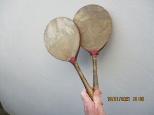 A Pair of Antique Ping Pong Bats c1900