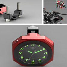 Quality Motorcycle Handlebar Waterproof Luminous Clock Aluminum Shell Universal