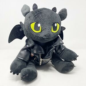 """Build A Bear Toothless How To Train Your Dragon 12"""" 2015 Harley Davidson Jacket"""
