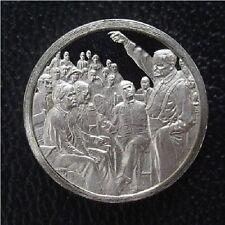 "Franklin Mint STERLING SILVER Mini-Ingot: 1925 Scopes ""MONKEY"" Trial Evolution"