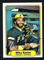 Mike Easler #481 signed autograph auto 1982 Fleer Baseball Trading Card