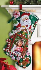 "Bucilla Gingerbread Picture Frame ~ 18"" Felt Christmas Stocking Kit #86411 New"