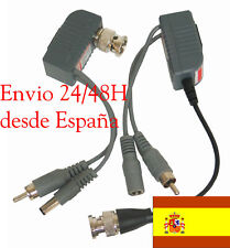 Transmisor Receptor Video Audio Alimentacion UTP Power Balun RJ45 CCTV BNC