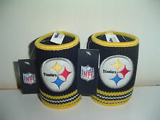 Pittsburgh Steelers 2 ct set Party Tailgate BEER SODA CUP CAN Woolie Knit COOLIE