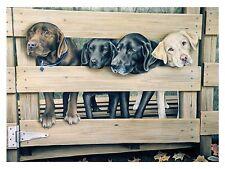 "25 ""Welcome Home"" Labradors 18x24 Canvas Print Robert Metropulos"