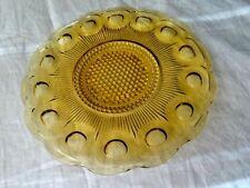 Bartlett Collins Glass Gold Manhattan (bullseye & cane) 11 inch Sandwich Plate