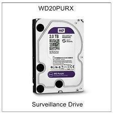 "WD Purple WD20PURX 2TB SATA 6.0Gb/s 3.5"" Hard Drive For Security CCTV Hikvision"