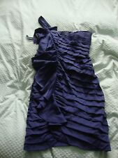 LADIES WOMANS COAST DRESS SIZE 10 FULLY LINED BLUE SINGLE SHOULDER SUPPORT