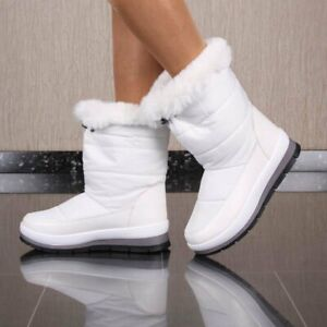 Warm Lined Ladies Snowboots Winter Boots White #HX-55