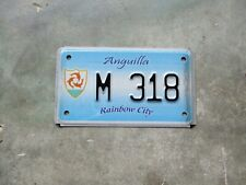 Anguilla motorcycle Rainbow City 3 fish license plate  #  M  318