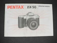 #2 Pentax Zx-50 Camera Operating Manual / Instruction Book / Guide