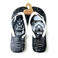 Havaianas Men Black Rubber Cushioned Star Wars Stormtroopers Flip Flop Sandal 13