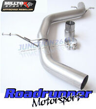 Milltek Seat Leon FR exhaust 2.0 TDI 170PS DPF Non Resonated Centre Tuyau MSVW 259
