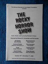 The Rocky Horror Show - EPAC Theatre Playbill - Oct./Nov. 2008 - Bobby Checchia
