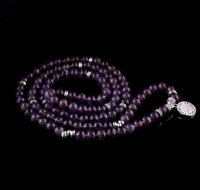 Natural amethyst mala necklace pendant yoga meditation 108 beads bracelet 2020