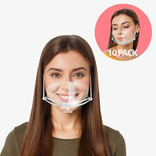 10 x Reusable Clear Sneeze Guard Mouth Shield Speak Guard Safety for Restaurant