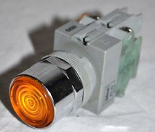 IDEC ALW Push Button Amber Lighted Bayonet NO Contact Switch