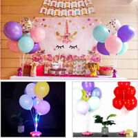 Balloon Column Stand Plastic Base LED Music Holder Table Cup Stick Party Kit