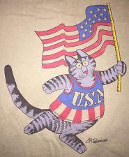 VINTAGE CRAZY SHIRTS HAWAII KLIBAN CAT SHIRT USA Olympics Cool Hip 80s Funny