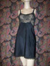 Vintage Barbizon Embrace Lace Knit Top Taffeta Mini Slip Nighty Lingerie 9 34