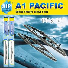 "All season Metal Frame J-HOOK Windshield Wiper Blades OEM QUALITY 14"" & 14"""