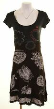DESIGUAL Womens A-Line Dress Size 10 Small Black Viscose  AQ10