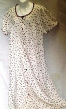 WOMEN'S PLUS,FLORAL,BUTTON FRONT, HOUSE DRESS,100% COTTON LAWN ROBE-3X-#30