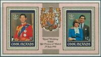 Cook Islands 1981 SG814 Royal Wedding MS MLH