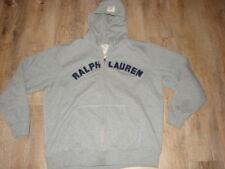 Mens Size 2XL Ralph Lauren Polo Gray Zip Hoodie