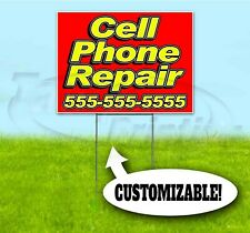 CELL PHONE REPAIR CUSTOM PHONE 18x24 Yard Sign WITH STAKE Bandit USA ELECTRONICS