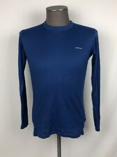 Patagonia Capeline L/S Blue 100% Polyester Base Layer Mens SZ S Lightweight C30