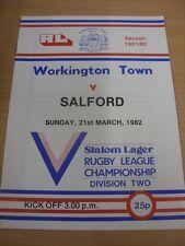 21/12/1980 programma Rugby League: Sindaco Città V Salford modifiche DEL TEAM ()
