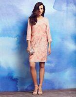 Monsoon Bermuda Dress Nude Size UK 14 rrp £149 DH095 EE 22