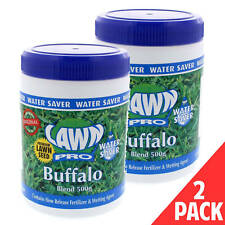Grass Seed Buffalo Blend Contains Slow Release Fertiliser 500g Lawn Pro 2 PACK