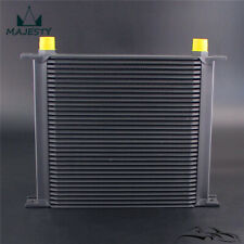 Aluminum Universal AN10 10-AN 34 Row Engine Transmissio Oil Cooler Black
