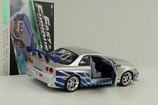 Movie presque & and Furious Brians Nissan Skyline GT-R r34 1:18 Greenlight