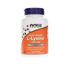 L-Lysine, 1000mg x100VTabs, Cold Sores, 24Hr Dispatch, Now Foods