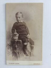 Victorian Carte De Visite CDV Photo: Child: G West & Son: Gosport: Bucket Spade