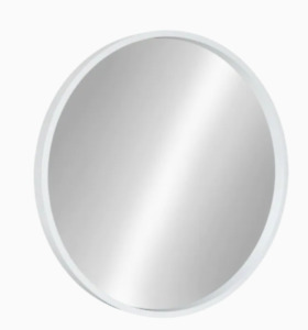211568 Kate and Laurel Travis 21.6-in L x 21.6-in W Round White Framed Mirror