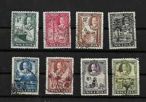 Nigeria, 1938 KGV pictorials, complete to 1/- used (7619)