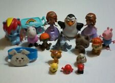 17 Toys Lot Mixed Movie, Tv Figure Assortment Cartoon Character Animal Figurines
