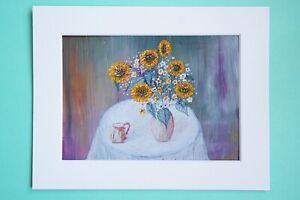 Photo Art Print VanagART A5 Format New Cardboard Painting Life Still Vase Flower