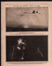 WWI Aircraft Avion Shrapnel obus à balles artillery munitions 1915 ILLUSTRATION