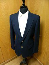 Mens Blazer Sport coat Jacket Adams Row 42r Navy Blue Wool Poly Blend N-#156