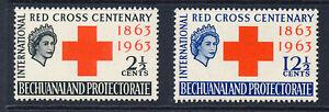 BECHUANALAND 1963 RED CROSS CENTENARY SG183/184  MNH