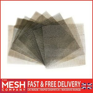 STAINLESS STEEL WOVEN WIRE FILTER MESH HEAVY, FINE & COARSE 150 & 300mm Square