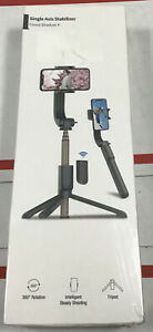 Gimbal Stabilizer for Smartphone with Extendable Bluetooth Selfie Stick black