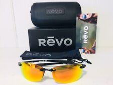REVO RE4060 01 OG DESCEND E Shiny Black w/Solar Orange POLARIZED Lens Suns $179