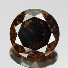 0.73 Carat 6.15x2.77mm NATURAL COGNAC BROWN DIAMOND LOOSE for Setting Round Cut
