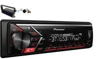 Pionero MVH-S300BT USB MP3 RDS Aux Set Montaje para VW Caddy cc Golf Passat